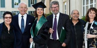 Laura Boldrini and Lynn Meskell receive Honorary Degrees at The American University of Rome
