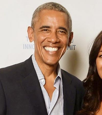 Professor Rula Jebreal introduces former President Barack Obama in Milan